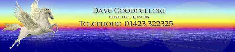 Dave Goodfellow Hypnotherapist - sunset with pegasus in the foreground
